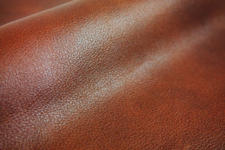 Natural aniline leather